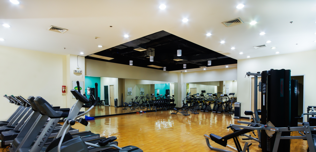Fitness facilities at TELUS House Araneta