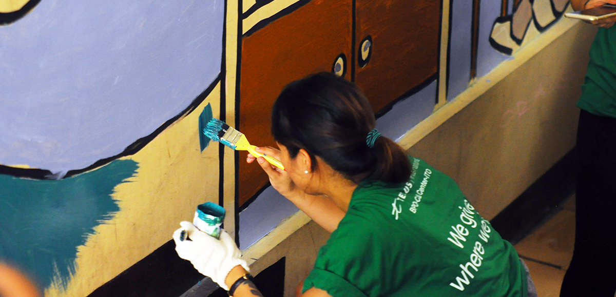 Painting and beautifying schools